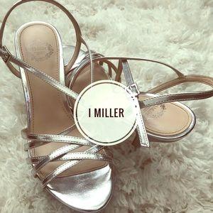I. Miller silver strappy heels!